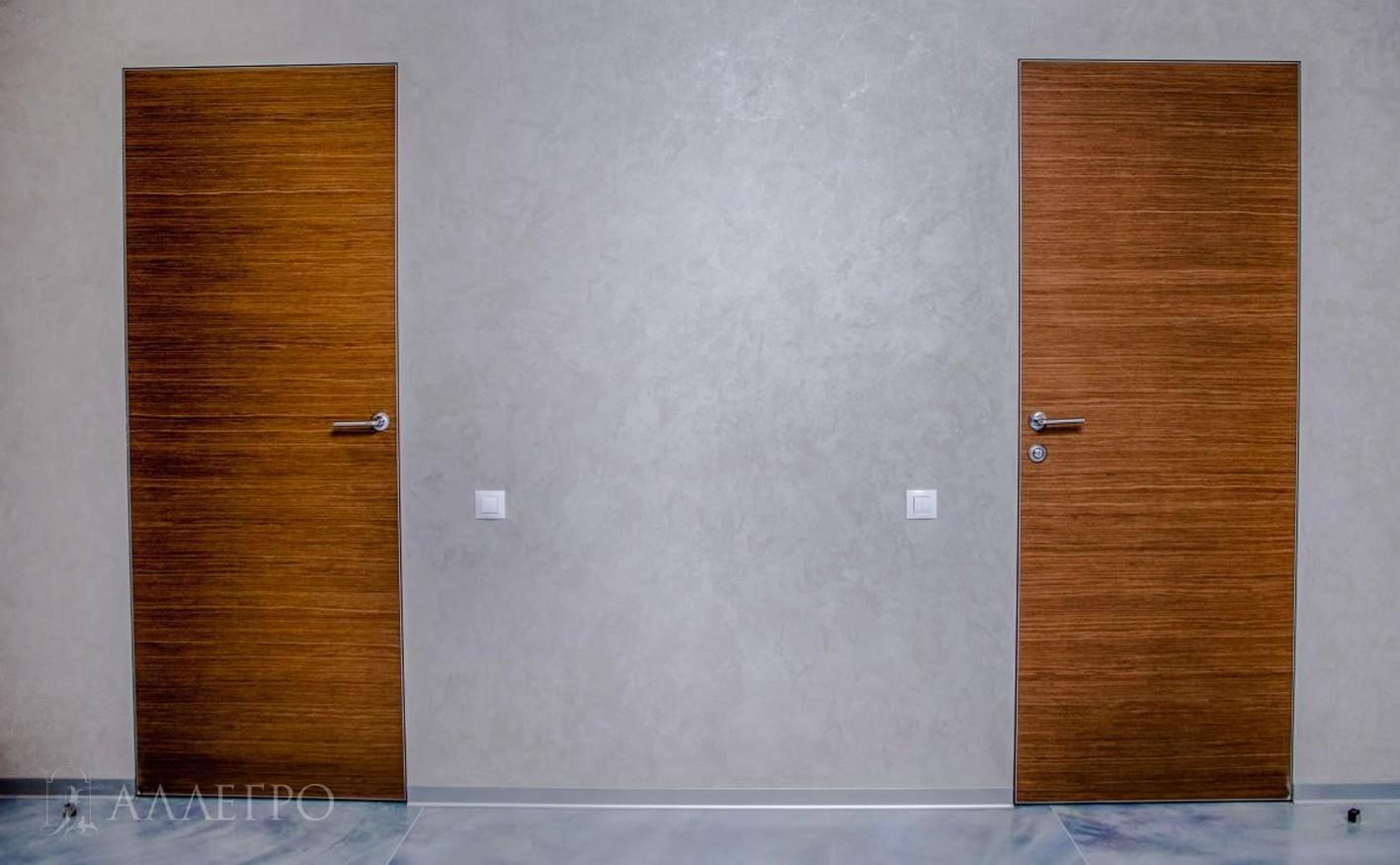 Стильные двери из шпона с невидимой коробкой