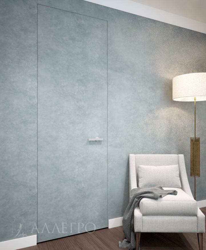 Скрытая дверь:полотно из алюминиевого профиля, 100% алюминиевая коробка