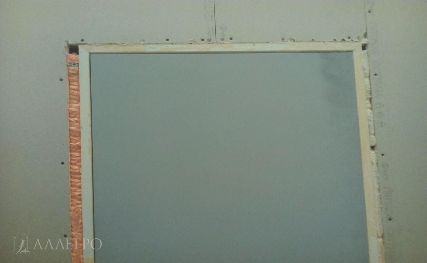 ШАГ1б Вот так выглядят двери сразу после установки - крупный план