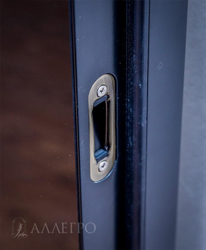 Дверная коробка вместе с наличниками составляют единый профиль - моноблок. Комплектуется также стеклянными доборами