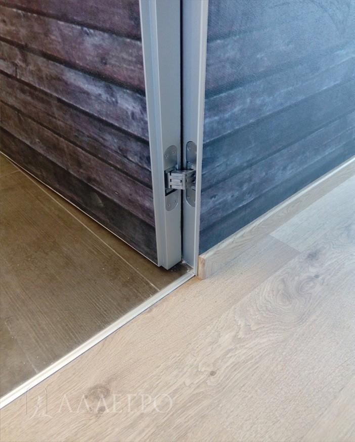 Алюминиевый профиль скрытого короба и скрытого дверного полотна для внутреннего открывания или от себя