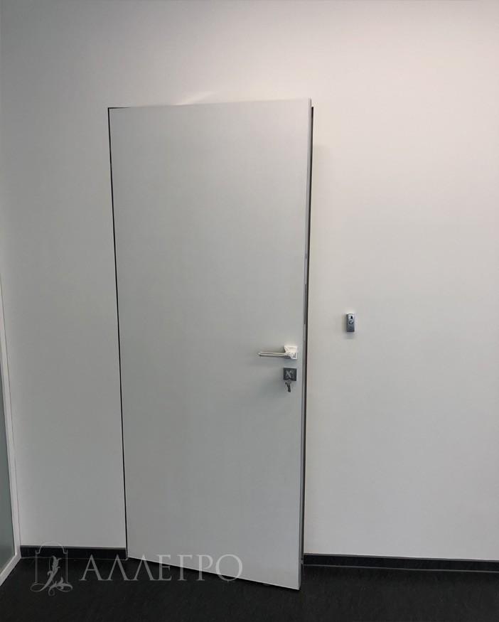 Дверь невидимка в открытом виде