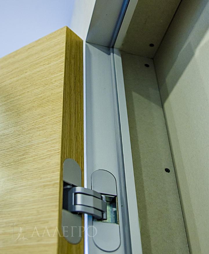 Скрытая коробка сделана на 100% из авиационного алюминиевого профиля. Комплектуется скрытыми итальянскими петлями AGB
