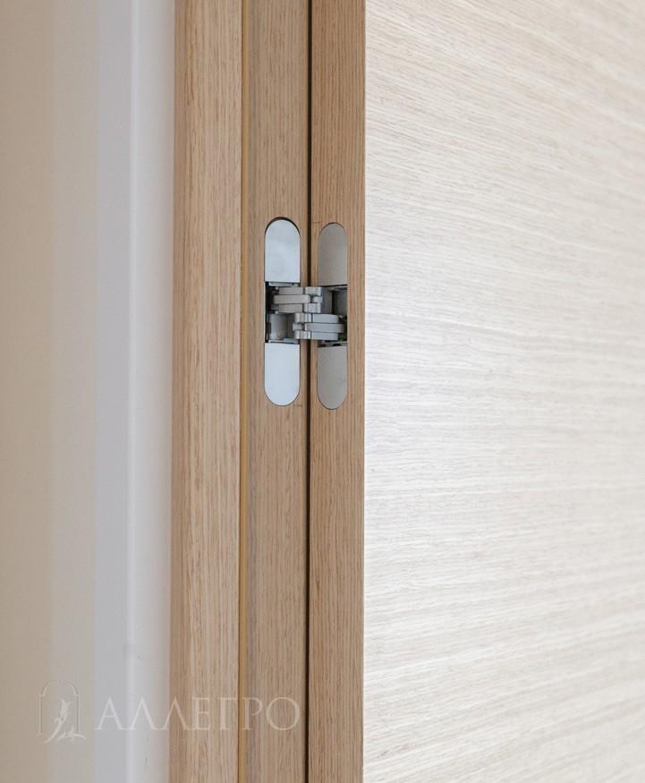 Обычная дверная коробка с наличниками сделана из 100% массива сосны и фанерована натуральным шпоном.