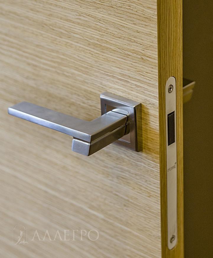Полотно в шпоне со всех четырех сторон. Комплектуется магнитными замками, которые являются бесшумными и бесконтактными.