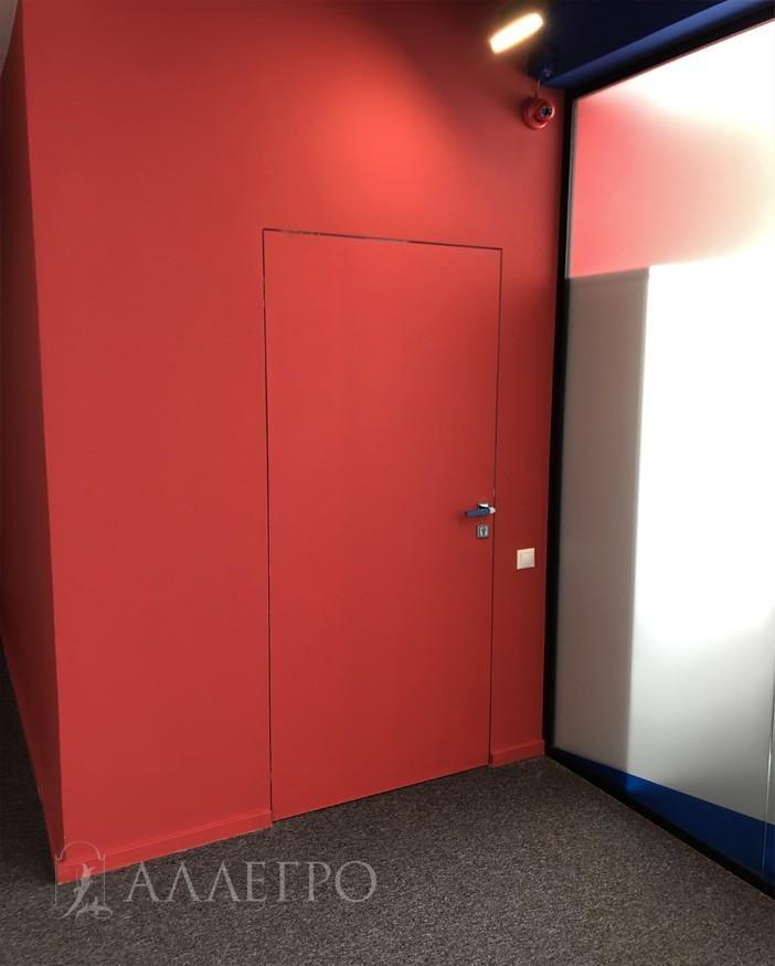 Двери невидимки под покраску. Другой ракурс.