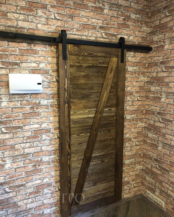 Амбарная дверь лофт. Общий вид