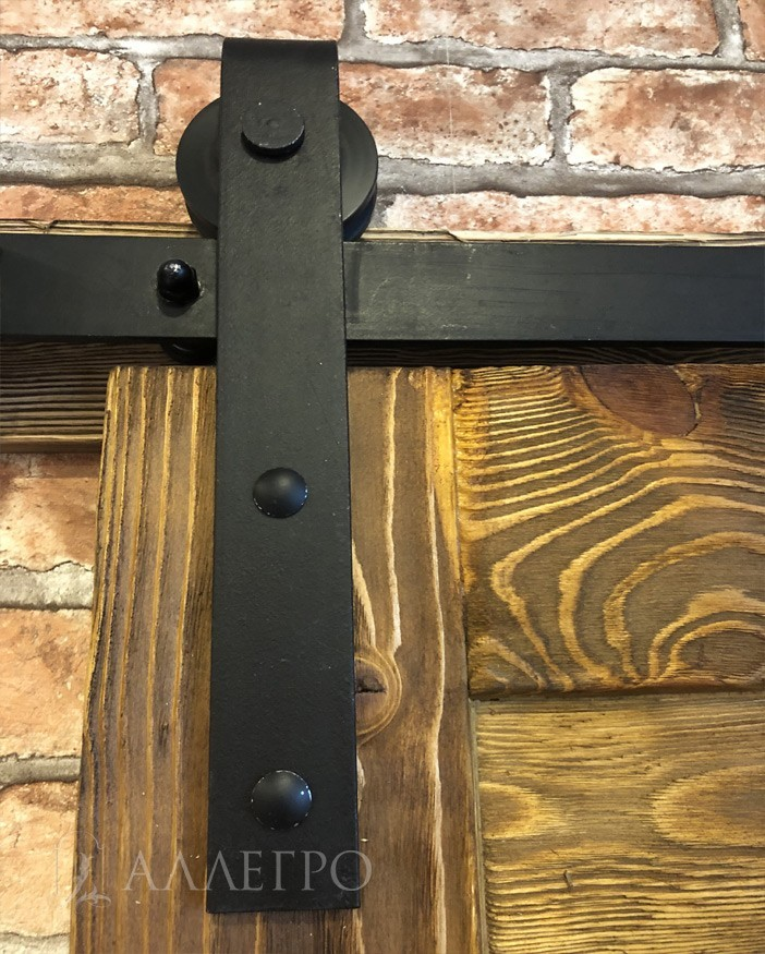 Черный брутальный амбарный механизм. Сделан из 6-мм стали. Очень крепкий и надежный