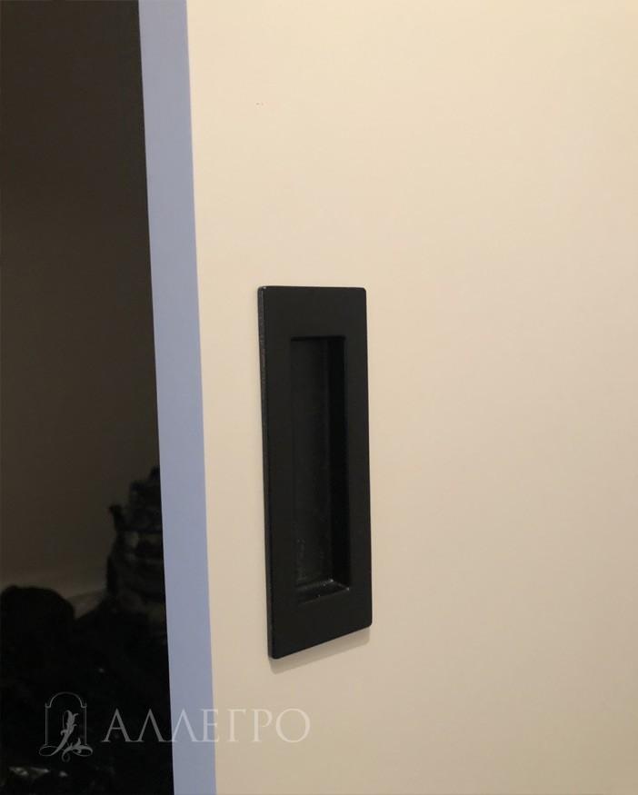Скрытая дверь АЛЛЕГРО с раздвижным амбарным механизмом фото