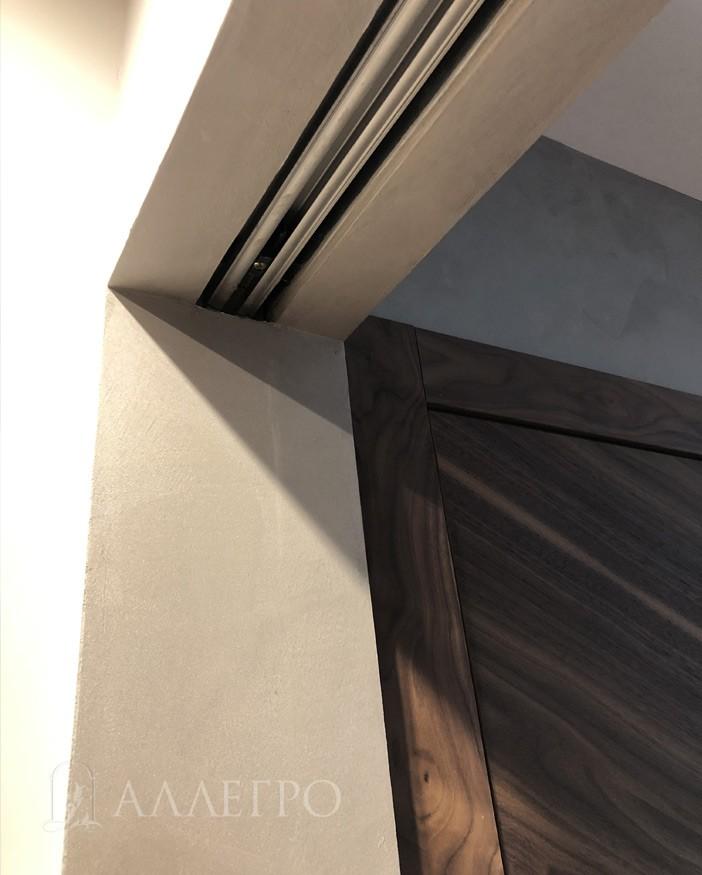 Дверь с раздвижной системой ПЕНАЛ под отделку и покраску фото