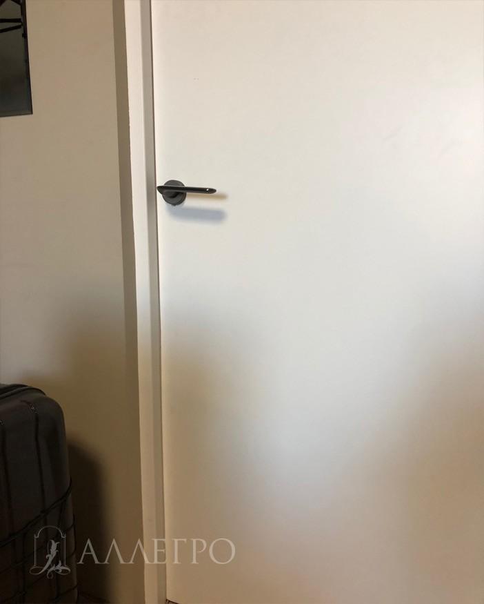 Все очень минималистично и стильно. Ручка, дверь и скрытая коробка изнутри. Всего 16 290 руб. за комплект такой двери