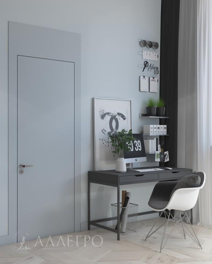 Двери под покраску со стеновыми панелями в одной плоскости. Ширина боковых панелей - 130 мм. Высота верхней - 350 мм.