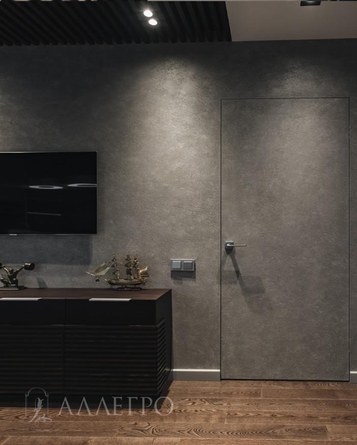 Дверь под покраску с алюминиевой коробкой - полотно каркас деревянный под отделку со всех 4 сторон,скрытая коробка на 100% сделана из авиационного алюминия. Может изготавливаться высотой до 2700 мм.