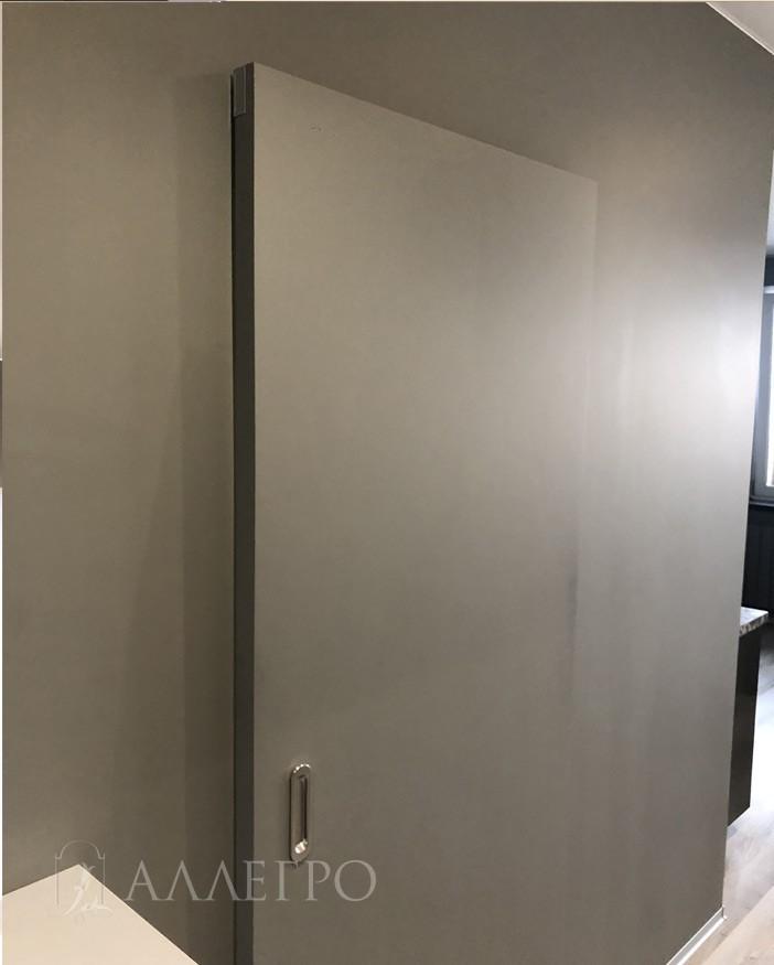 Дверь под покраску с раздвижной системой HIDDEN фото