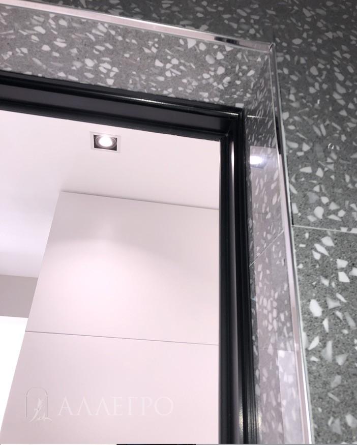 Черный профиль коробки + полотно с черным кантиком с 2-х сторон
