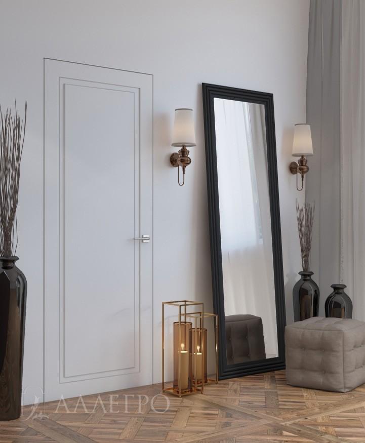 Скрытая дверь со скрытой коробкой и рисунком на полотне фото