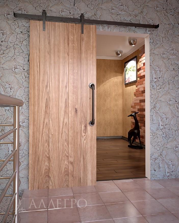 Амбарные двери с раздвижным механизмом