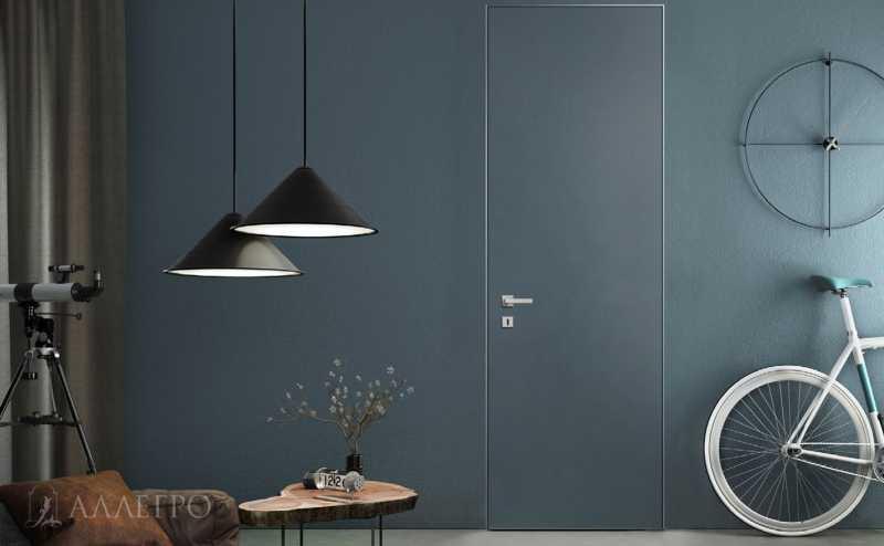 Скрытые двери под покраску в лофт