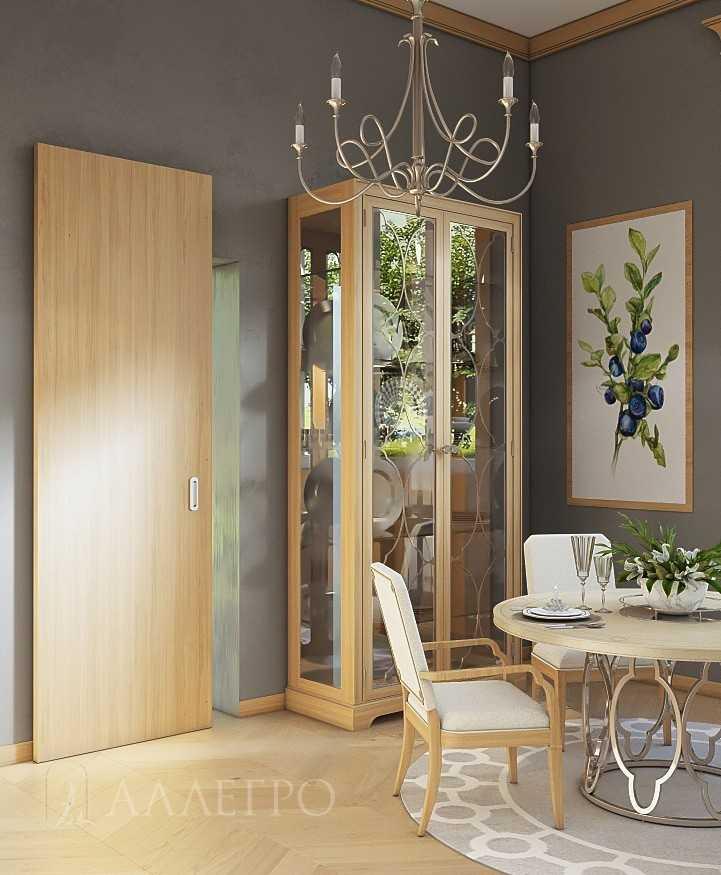 Шпонированная дверь со скрытым раздвижным механизмом HIDDEN. Максимальная высота изготовления до 2700 мм
