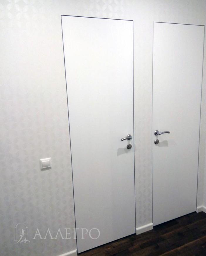 Общий внешний вид двери Аллегро комбинированная со скрытой коробкой