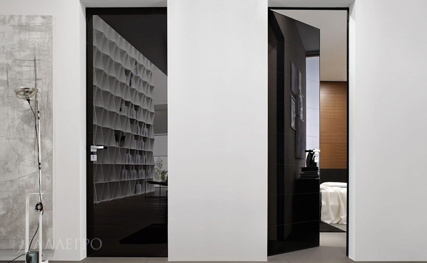 Черные глянцевые двери
