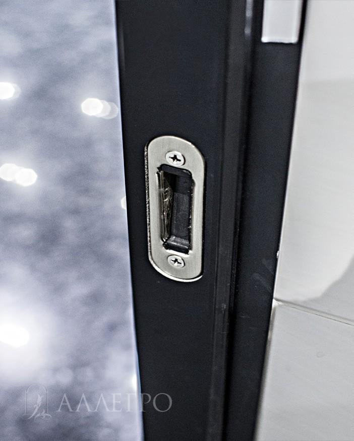 5. Ответная часть магнитного замка, которая крепится на скрытой коробке