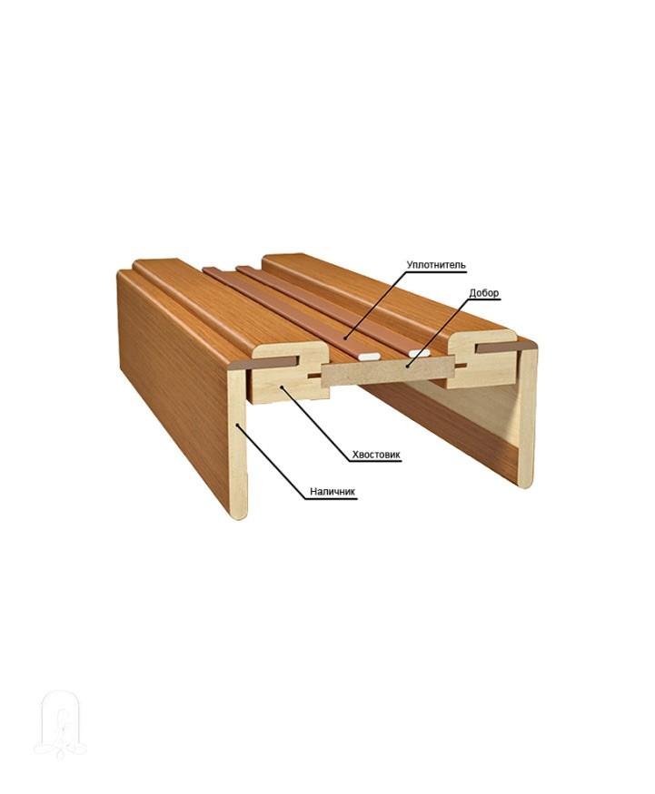 Схема стороны, куда будет упираться раздвижная дверь