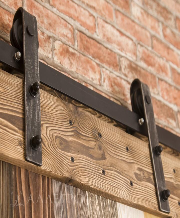 Фото раздвижного механизма для амбарных дверей