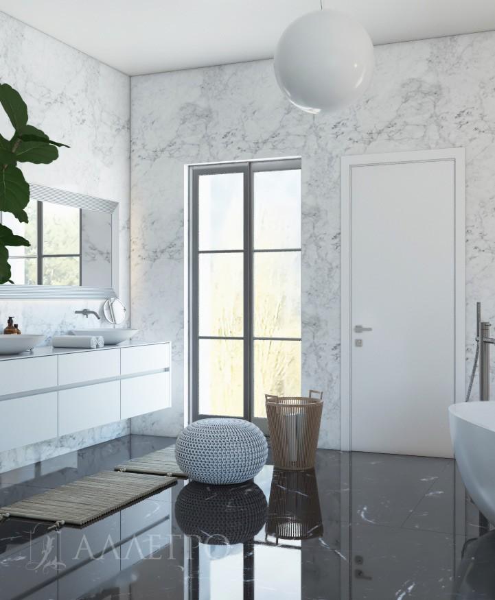 Фото белых матовых дверей с наличником в интерьере