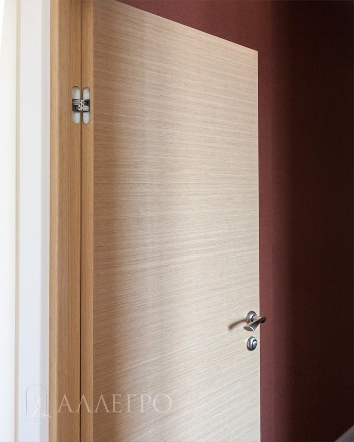 Межкомнатные двери из шпона крупным планом