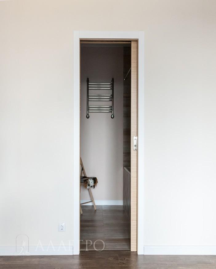 Полностью открытая раздвижная дверь