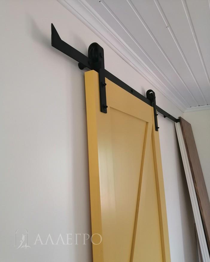 Профиль двери в виде двух ступенек для открывания внутрь (от себя)