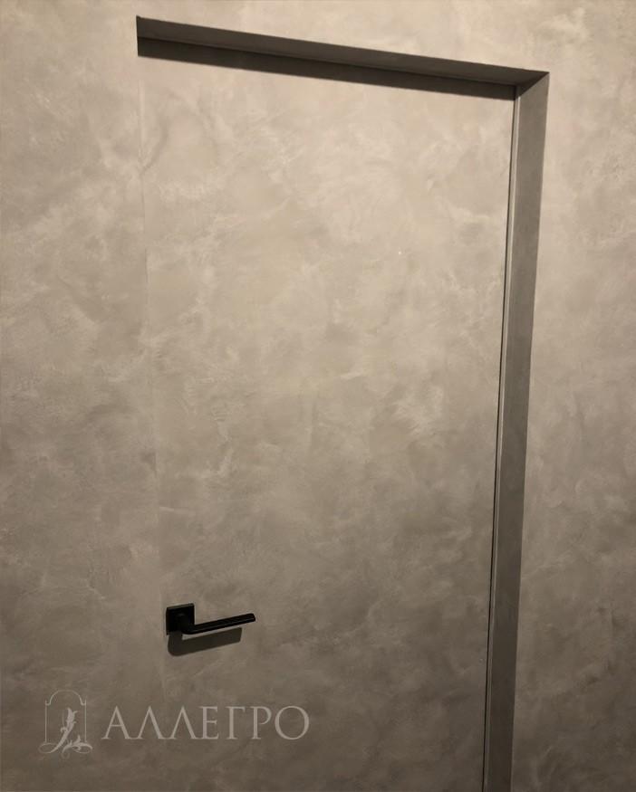 Скрытая дверь под покраску с обратной стороны