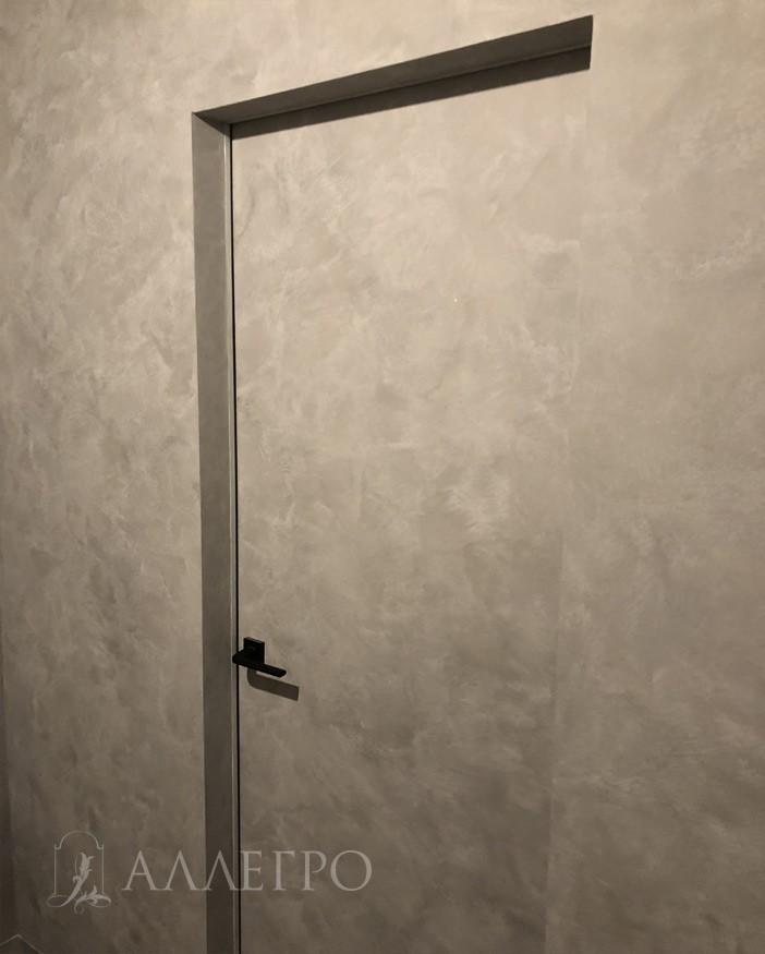 Обратная сторона дверей невидимок под покраску под другим углом