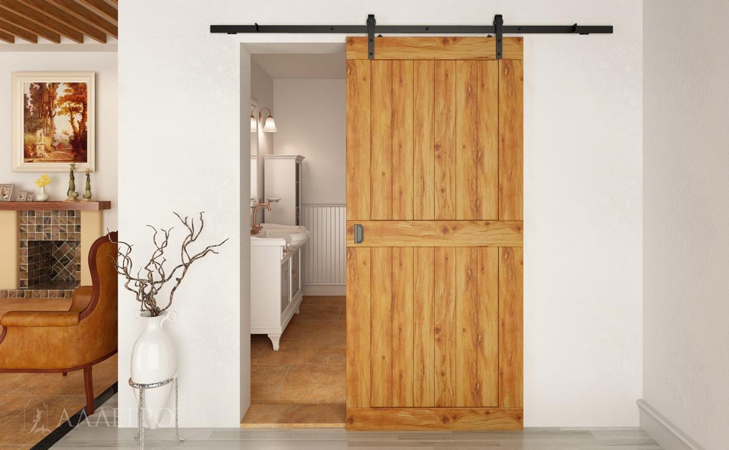 Лофт-двери в амбарном стиле с раздвижным механизмом