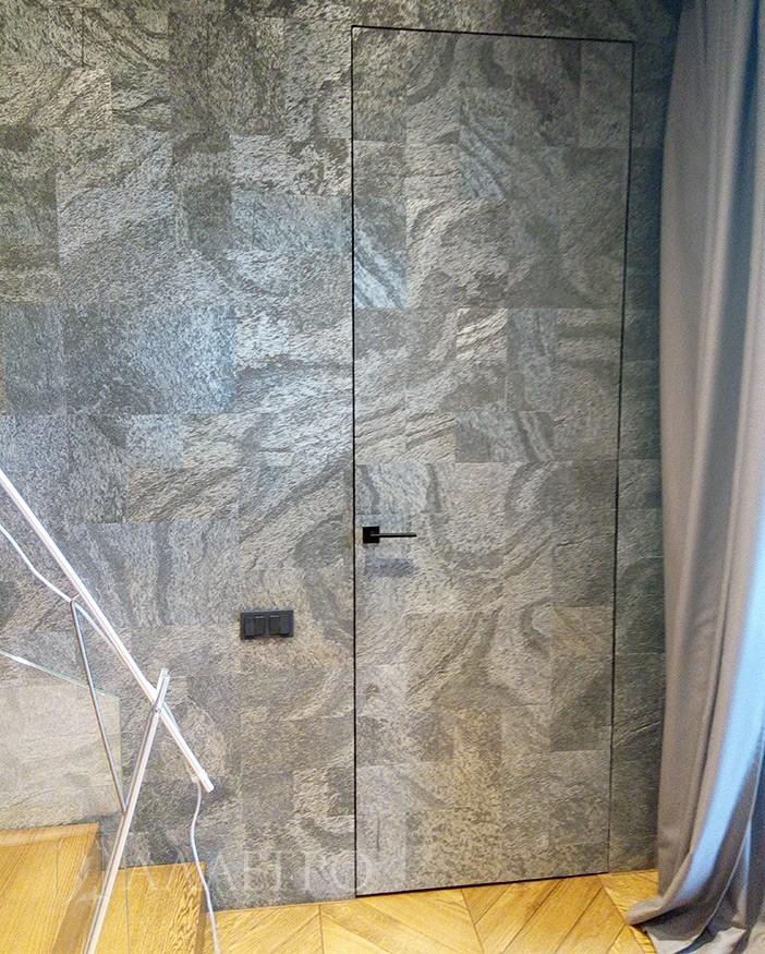 Скрытые двери с алюминиевой коробкой под обои
