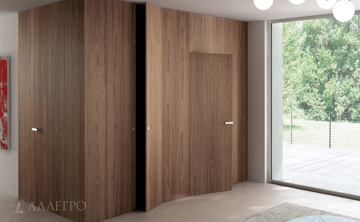 Шпонированные скрытые двери идеально впишутся в интерьер